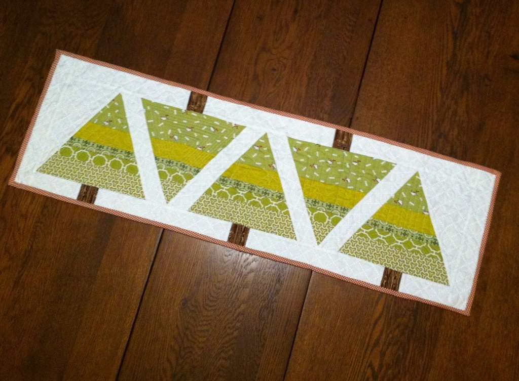 O christmas tree table runner tutorial may chappell